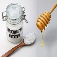 بيكربونات الصودا والعسل لبشرة مشرقة